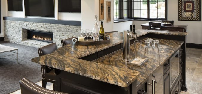 Uplift the mood of the kitchen with an impressive granite surface